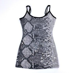 Almost famous sequined  Snake Skin Tank Top Blouse